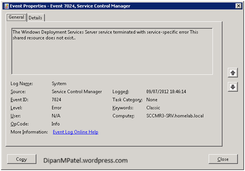 Unable to start WDS – Error Code 2310 | Dipan M Patel